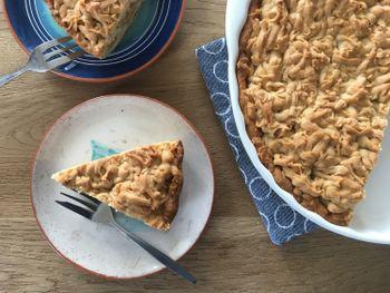 Тертый яблочный пирог
