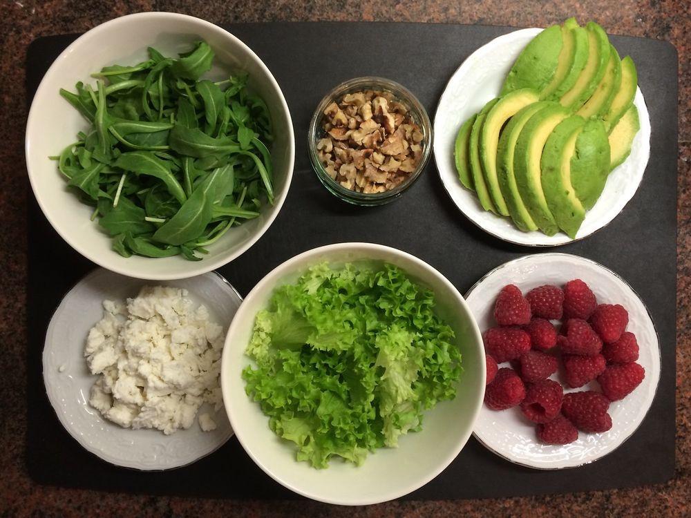 Салат с малиной и авокадо | Cook With ❤